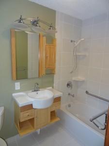 bathroom remodel with floating vanity Fairbanks Alaska