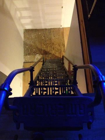 Custom winder stairs for odd spaces in Fairbanks, Alaska