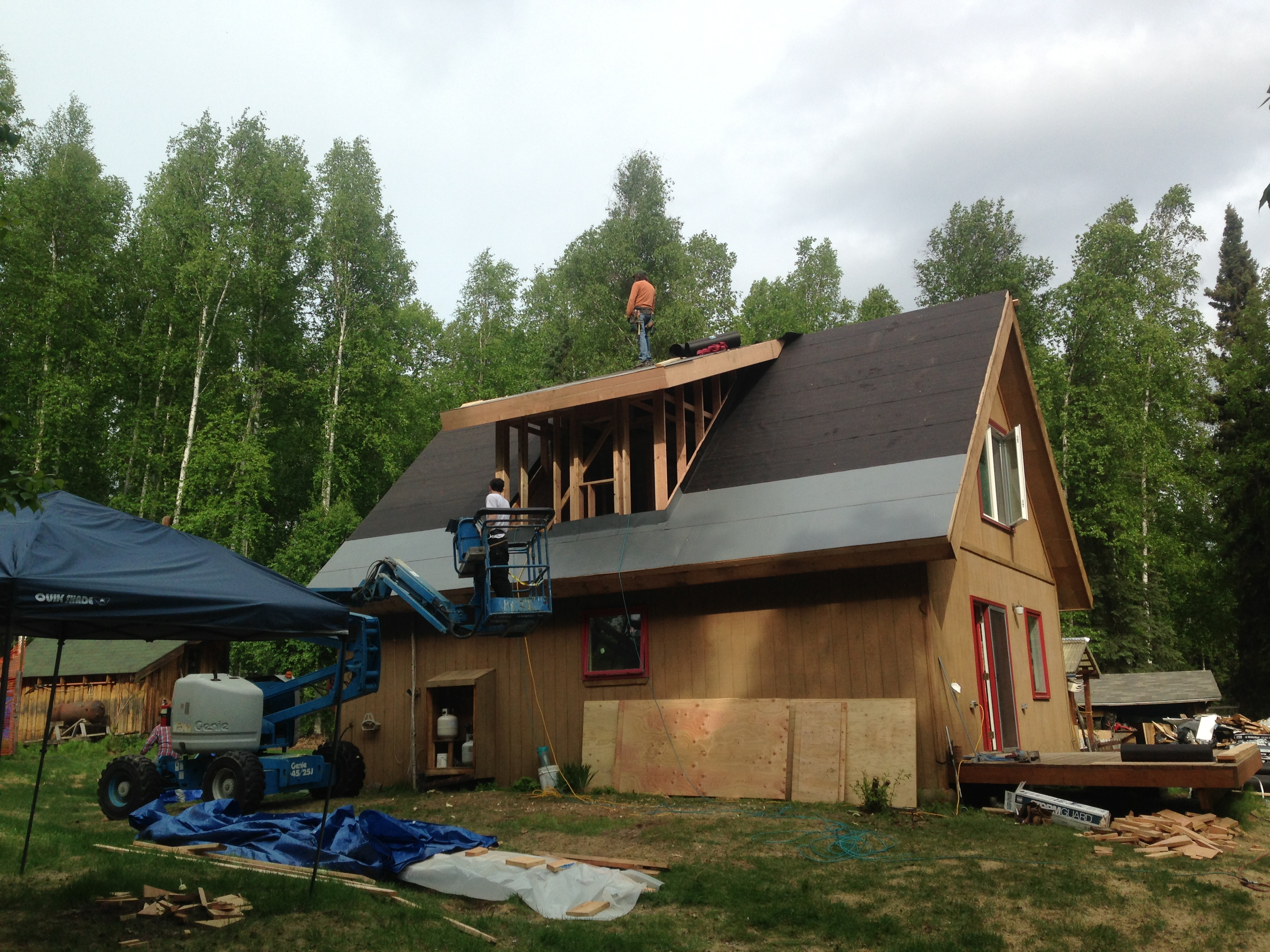 adding a bathroom dormer to a 12/12 roof in fairbanks alaska