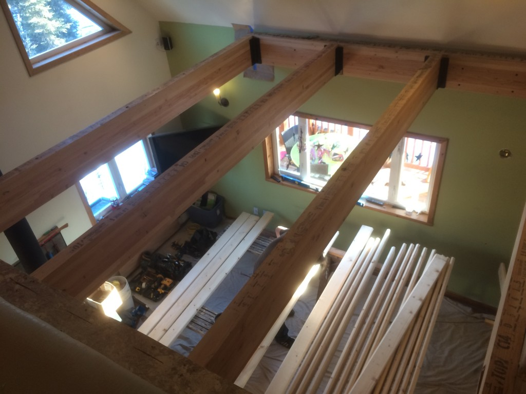 Adding a loft addition to a home in fairbanks alaska for Loft in house