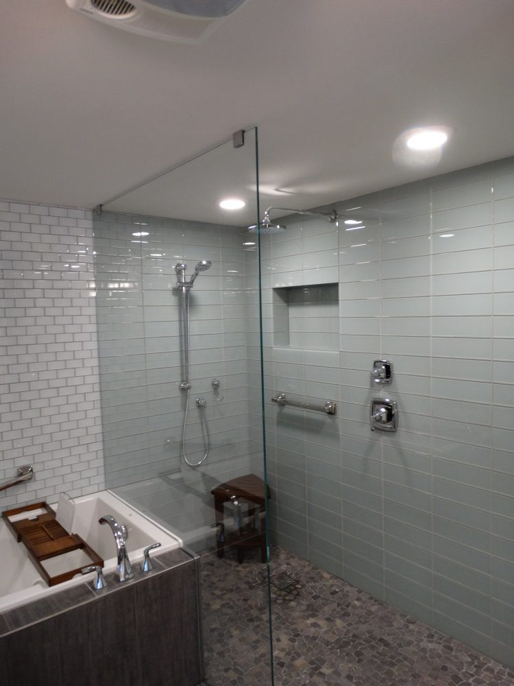 glass tile and glass shower barrier Fairbanks Alaska